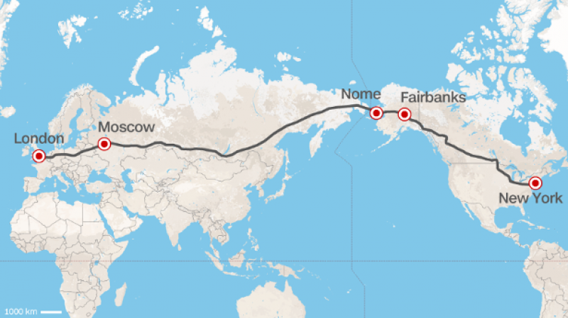 Drive from europe to us why notssia proposes worlds greatest the route is interpreted by cnn london to new york city by car it could happen if the head of russian railways had his waye road would run across the gumiabroncs Gallery